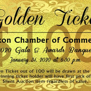 Golden Ticket with description of the ticket