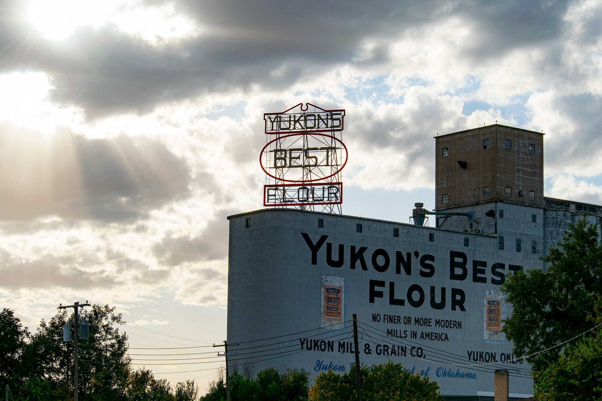 Yukon's Best Flour Mill With Clouds