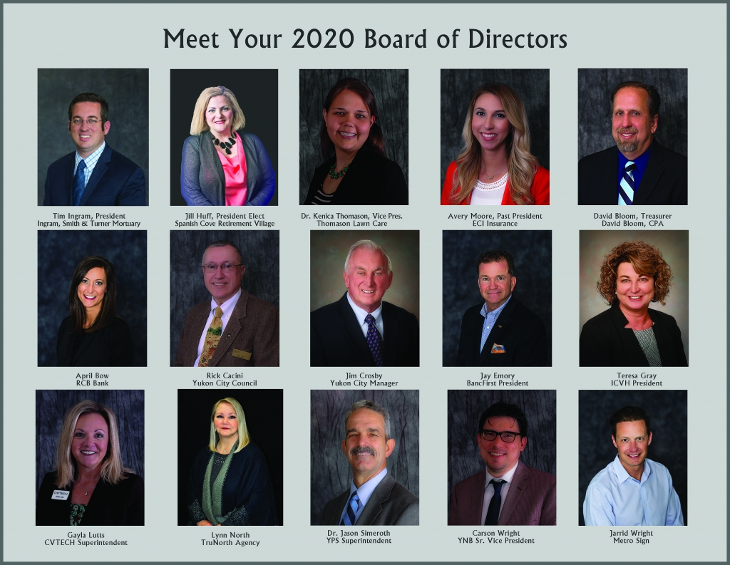 Individual photos of 2020 Chamber Board members